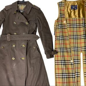 Vintage Burberry's Women's Rare Brown Trench Coat